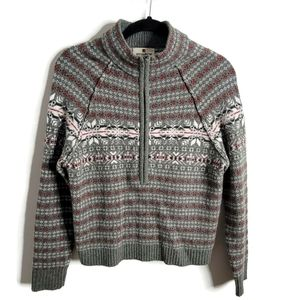 Woolrich Nordic Look Small 100% Lambswool Sweater